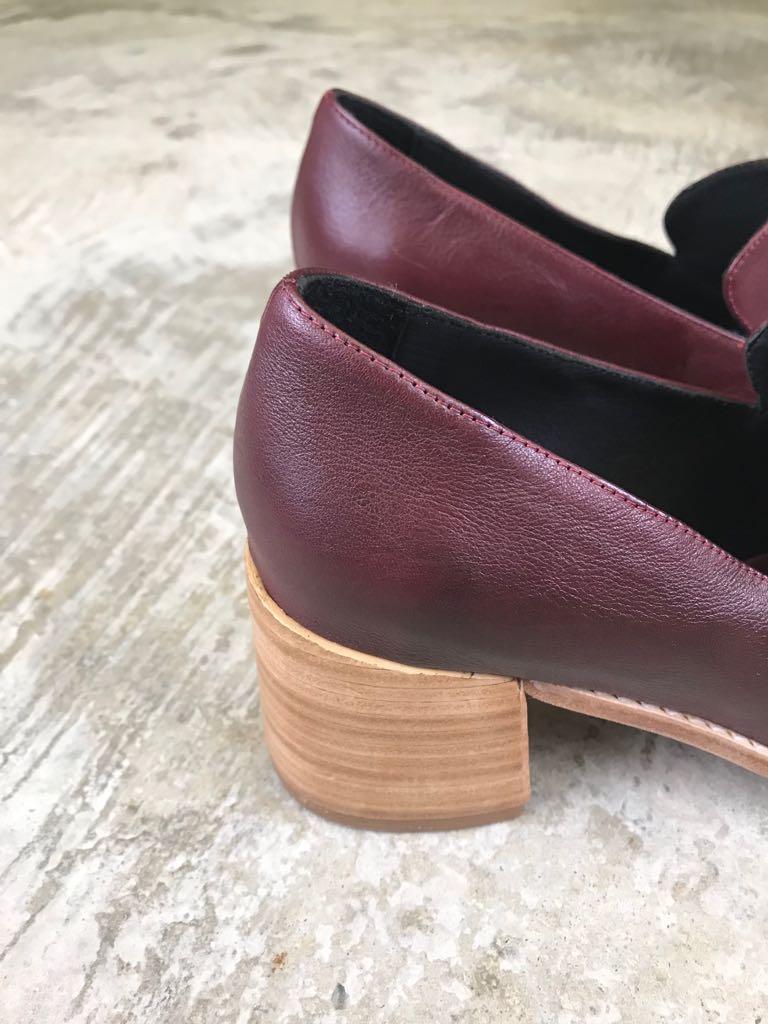 Sapato Napa Soft - Vinho  - Angelina Vai às Compras