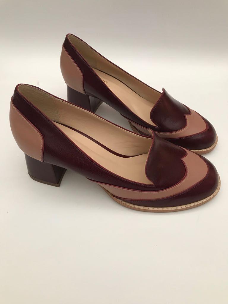 Sapato Pelica Vinho e Rosê  - Angelina Vai às Compras