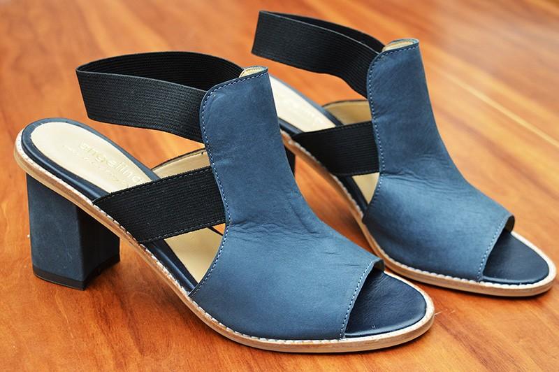 Sandália Elástico Azul