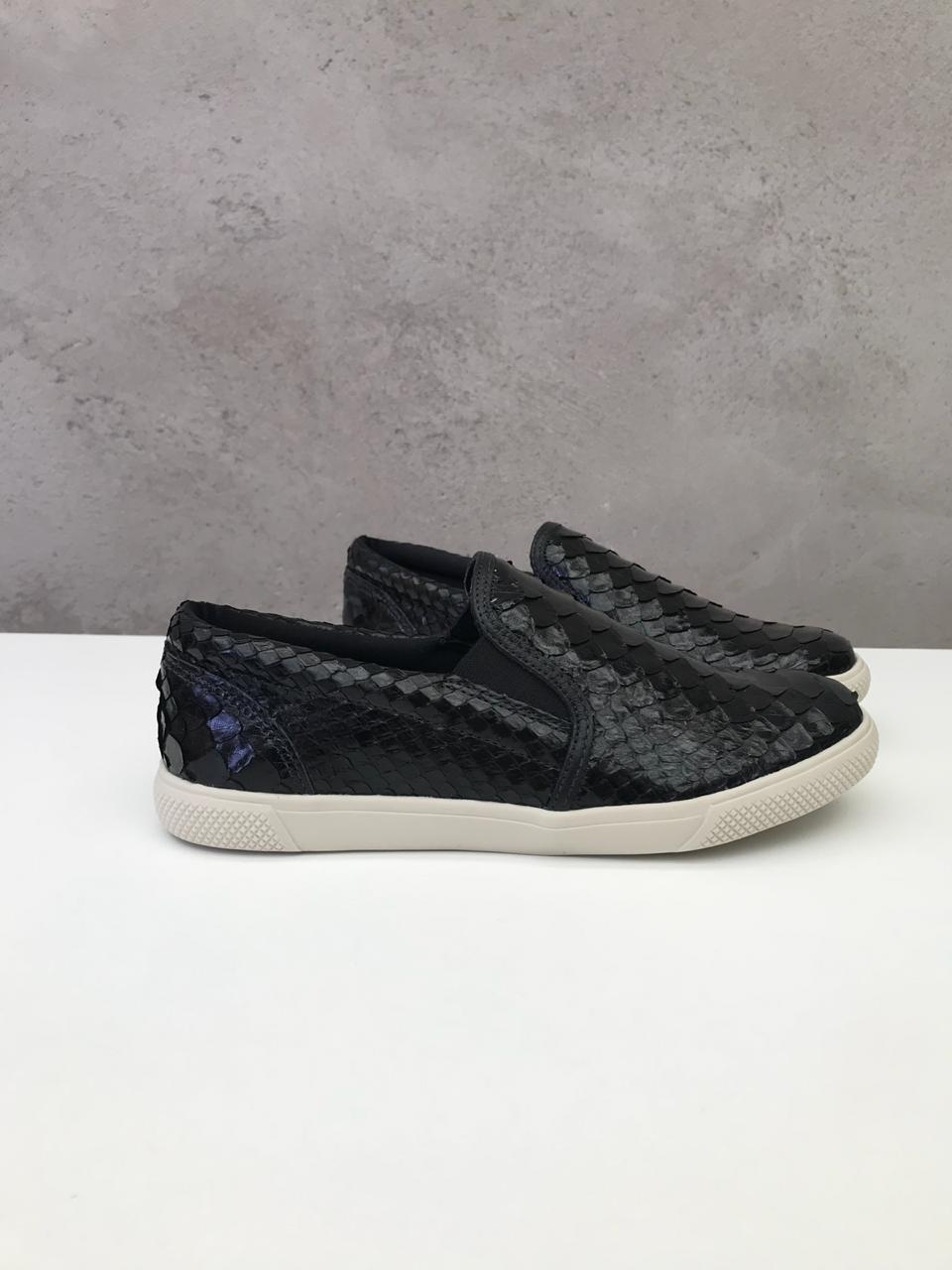 Sneaker Python Preto   - Angelina Vai às Compras