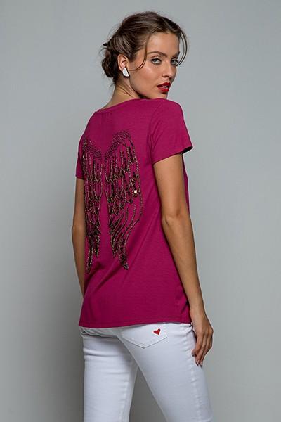 T-shirt Asa Paetê