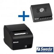 Combo Sweda Sat Fiscal SS1000 + Impressora Térmica SI-300S Não Fiscal USB/Serial c/ Guilhotina