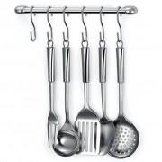 Kit Cook Home 11 Cozinha Suspensa 8 Peças Aço Cromado Suporte Utensílios - Arthi