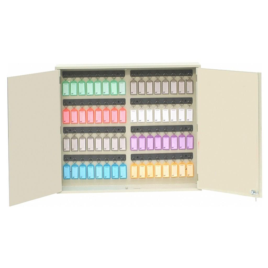 Armário/Claviculário em MDF p/ 64 Chaves c/ Chaveiros Coloridos Acrimet