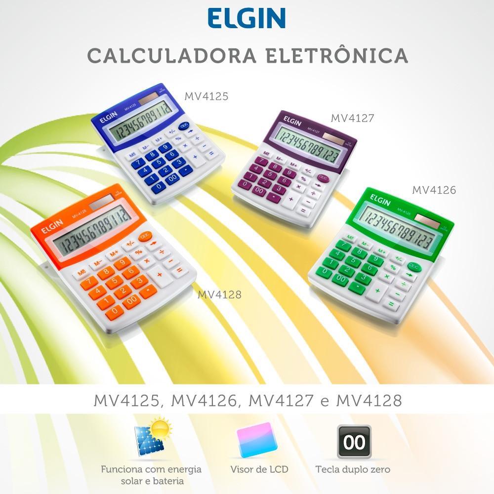 Calculadora de Mesa Elgin MV 412X 12 Dígitos Visor LCD