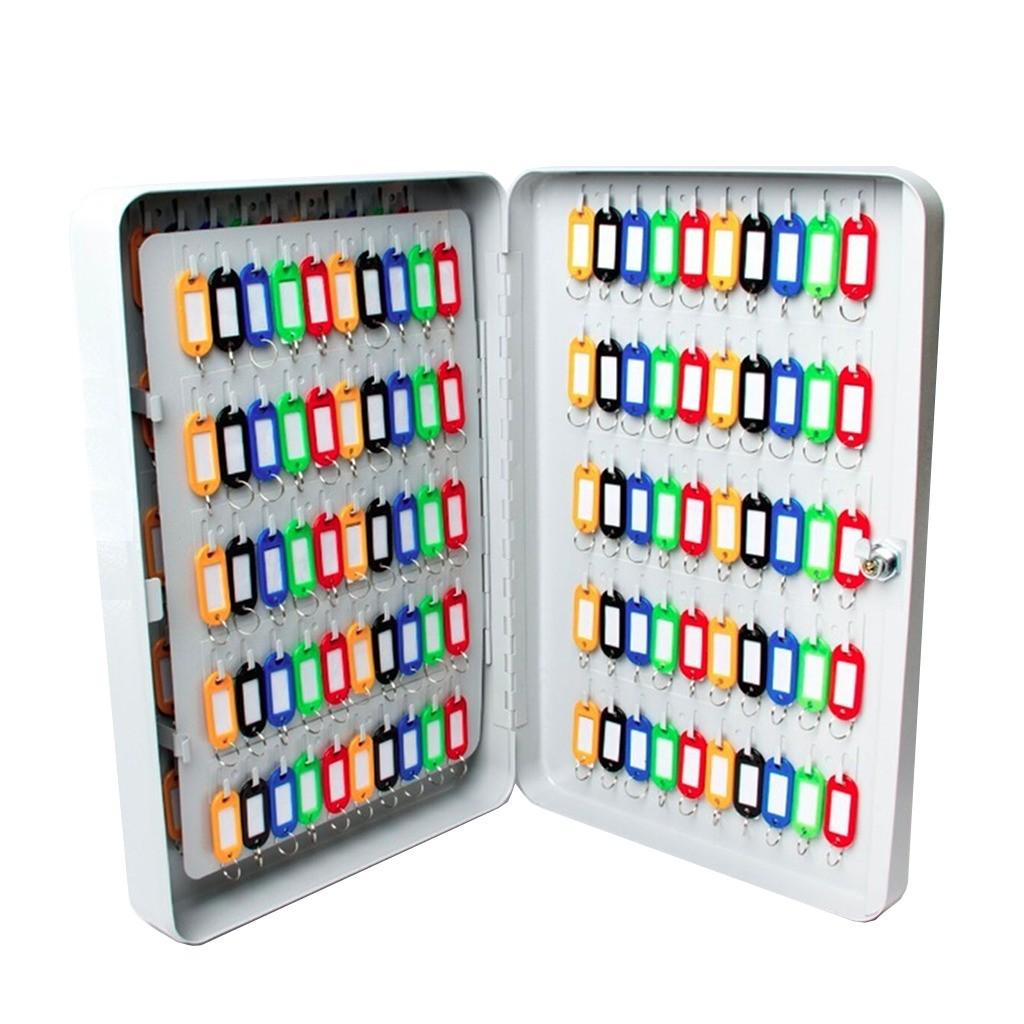 Claviculário Metálico Menno TS150 Porta Chaves p/ 150 Chaves c/ Chaveiros Coloridos
