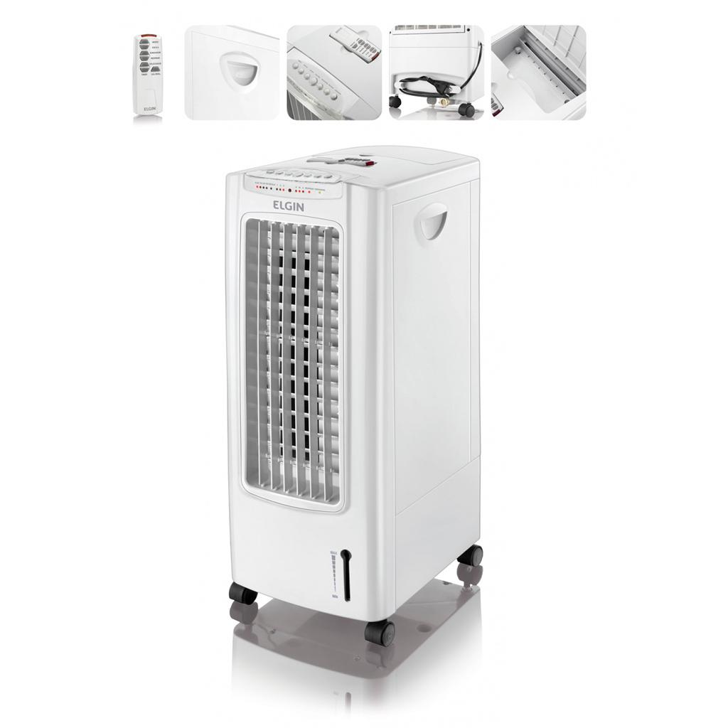 Climatizador de Ar Portatil e Umidificador FCE-75 Elgin Branco Frio Com Controle Remoto
