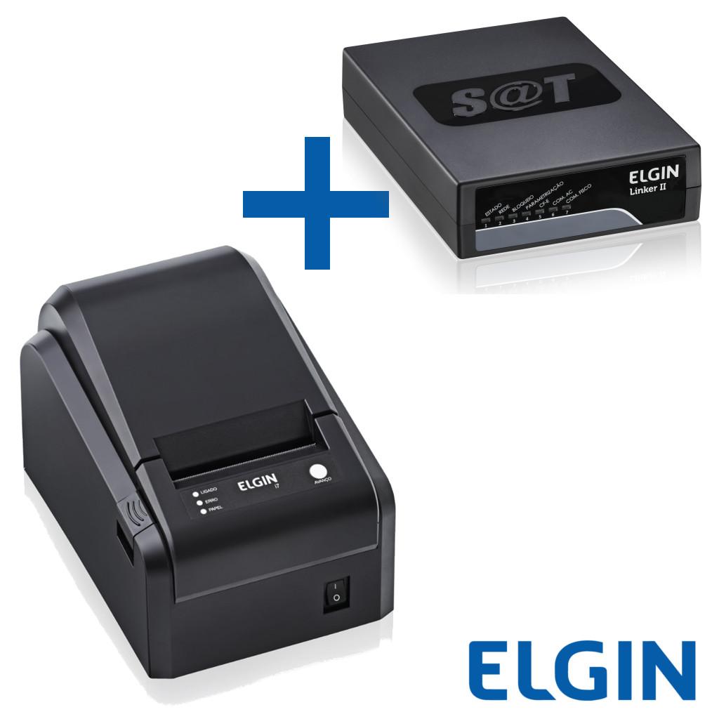 Combo Elgin Sat Fiscal Linker II + Impressora Térmica Não Fiscal I7 Usb c/ Serrilha