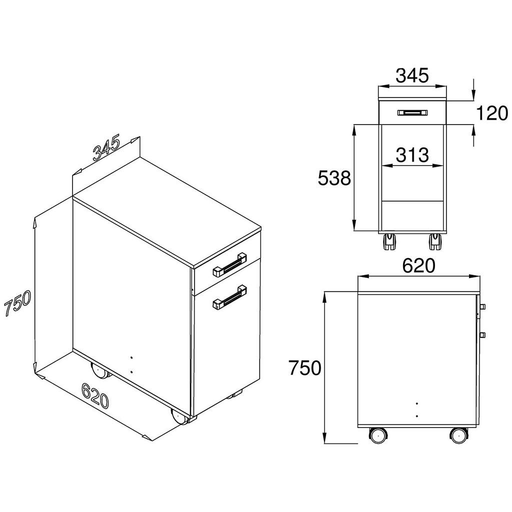 Gabinete p/ Filtro de Água ou Multiuso c/ Lixeira Multivisão AS 670