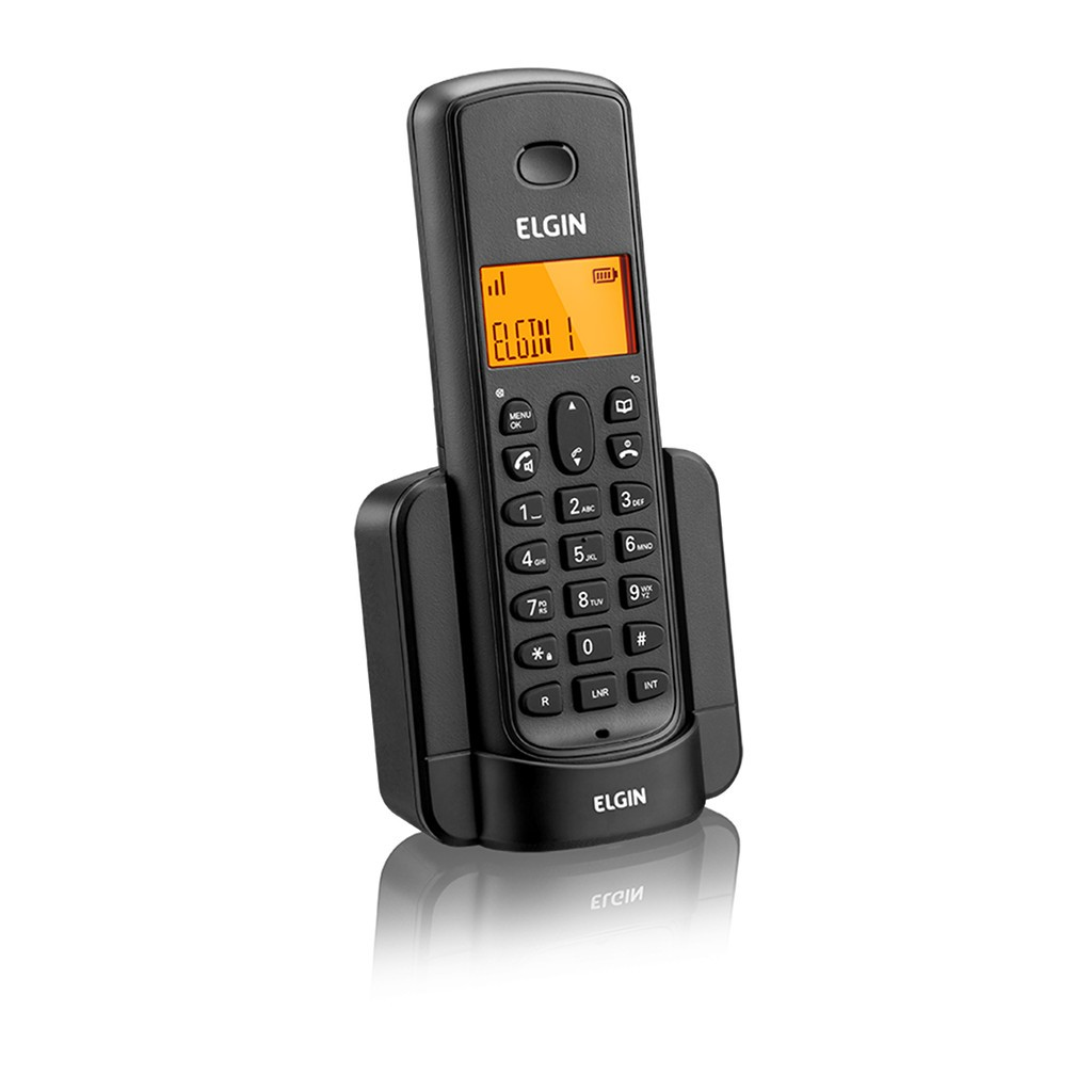 Ramal p/ Expansão de Telefone Sem Fio Elgin TSF 8000R Dect 6.0 1.9Ghz c/ Identificador de Chamadas, Viva-voz