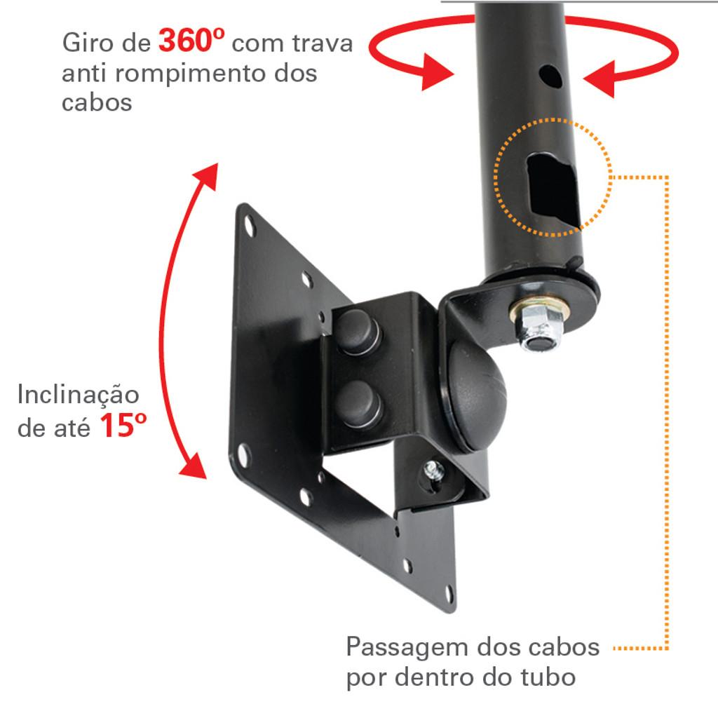 Suporte de Teto para TV LCD/LED/Plasma 19