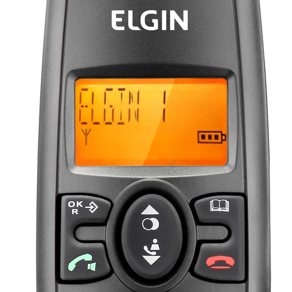Telefone Sem Fio Elgin TSF 702SE c/ Identificador Secretária Eletrônica + 1 Ramal