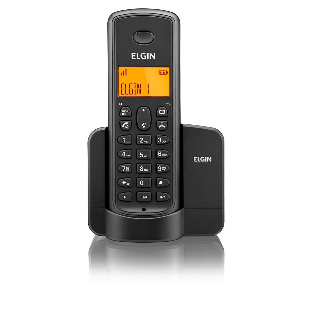 Telefone Sem Fio Elgin TSF 8002 c/ Ramal Dect 6.0 1.9 Ghz Viva Voz e Identificador de Chamadas