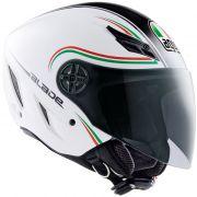 Capacete AGV Blade Star Italy Branco Verde Vermelho