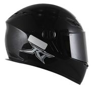 Capacete Race Tech 501 RT501 Monocolor - Preto