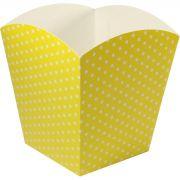 Cachepot Grande - 8 Unid - Amarelo E Branco