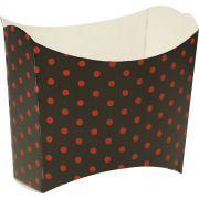 Caixa De Batata - 8 Unid - Vermelho E Preto