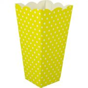 Caixa Pipoca -8 Unid - Amarelo e branco