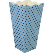 Caixa Pipoca -8 Unid - Azul BB e marrom