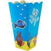 Caixa Pipoca -8 Unid - Fundo do mar