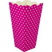 Caixa Pipoca -8 Unid - Pink e branco