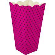 Caixa Pipoca -8 Unid - Pink e preto
