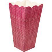 Caixa Pipoca -8 Unid - Pink xadrez
