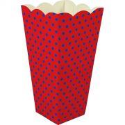 Caixa Pipoca -8 Unid - Vermelho e azul
