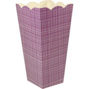 Caixa Pipoca -8 Unid - Vinho xadrez
