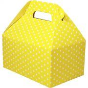 Caixa Surpresa M - 8 Unid - Amarelo E Branco