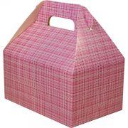 Caixa Surpresa M - 8 Unid - Pink Xadrez