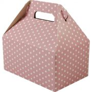 Caixa Surpresa M - 8 Unid - Rosa Bb E Branco
