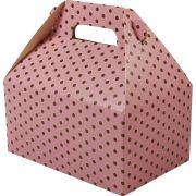 Caixa Surpresa M - 8 Unid - Rosa Bb E Marrom