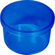 Caixinha Redonda 6X4 - 10 unid - Azul Transparente