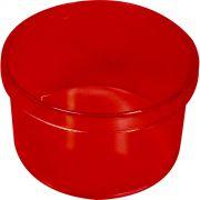 Caixinha Redonda 6X4 - 10 unid - Vermelho Transparente