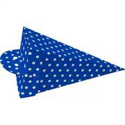 Cone De Guloseimas - 8 Unid - Azul Escuro E Branco