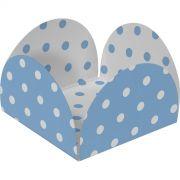 Forminha 4 Petalas  Azul Bb E Branco