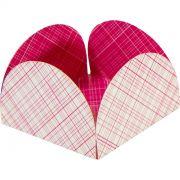 Forminha 4 Petalas Pink Xadrez