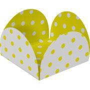 Forminha 4 Petalas  Amarelo E Branco