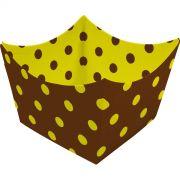 Forminha Montada - 24 Unid - Amarelo E Marrom