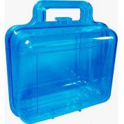 Maleta Acrílica Azul Transparente