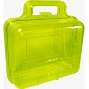 Maleta Acrilica Verde Transparente