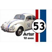 Painel de Festa Fusca Herbie 53 - Mod 01