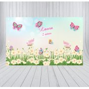 Painel de Festa Jardim Encantado - Mod 01