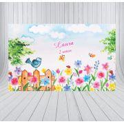 Painel de Festa Jardim Encantado - Mod 03