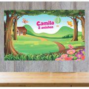 Painel de Festa Jardim Encantado - Mod 04