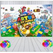 Painel de Festa Mario World - Mod 01