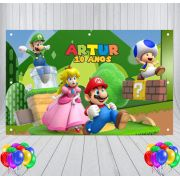 Painel de Festa Mario World - Mod 02
