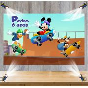 Painel de Festa Mickey e Turma - Skate
