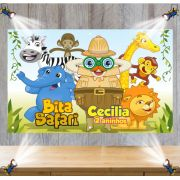 Painel de Festa Mundo Bita Safari - Mod 6